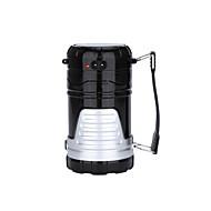 bærbare førte sol camping lampe genopladelige vandtæt udendørs telt optrækkelige USB LED lanterne lys for vandreture ramdon farve