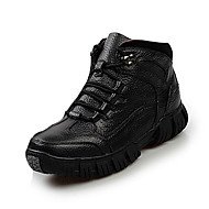 Støvler-Læder-Komfort-Herre-Sort Brun-Fritid-Flad hæl