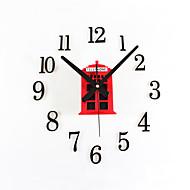 Модерн Ретро Праздник Духовное развитие Семья Друзья Мультфильмы Настенные часы,Круглый Новинки Акрил Металл 70 Применение Часы