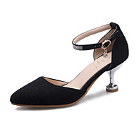 Women's Heels Spring Summer Fall Club Shoes Fleece Office & Career Party & Evening Dress Kitten Heel Rhinestone Buckle Black Pink Beige