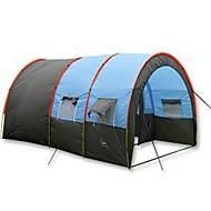 5-8 persone Tenda Singolo Tende da campeggio formato famiglia Due camere Tenda da campeggio 1000-1500 mmFibra di vetro Similpelle Oxford