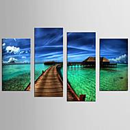 Famoso Paisagem Modern Realismo,4 Painéis Tela qualquer Forma Estampado Decoração de Parede For Decoração para casa