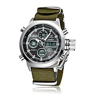 OHSEN Watch Men Sport Watches Canvas Strap Quartz Watch Waterproof Men LED Digital Clock Men Relojes Masculino