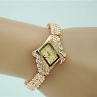 Women's Dress Watch Fashion Watch Bracelet Watch Imitation Diamond Quartz Alloy Band Charm Elegant Gold