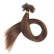 16-24inch 40g-50g przedłużanie włosów Fusion keratyny końcówki paznokci u przechylić przedłużanie włosów indian remy włosy Brazylijski