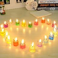 24 pcs luz de cristal perfumado gel vela sem fumaça geléia de cera amigos do ambiente não-tóxico e inofensivo velas românticas
