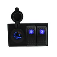 직류는 12V / 24V 주도 디지털 로커 스위치 점퍼 전선 및 주택 홀더 전원 소켓을 주도