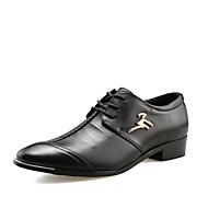 גברים-נעלי אוקספורד-עור-אחר-שחור-חתונה משרד ועבודה מסיבה וערב