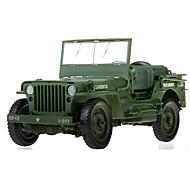 רכב צבאי צעצועים צעצועים רכב 1:18 ABS פלסטיק מתכת ירוק צעצוע בניה ודגם