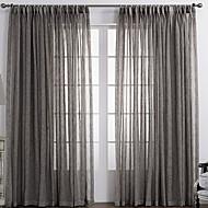 Um Painel Tratamento janela Rústico , Sólido Quarto Material Sheer Curtains Shades Decoração para casa For Janela