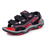 Herre-PU-Flat hæl-Komfort-Sandaler-Fritid-Svart / Grønn Svart / Rød