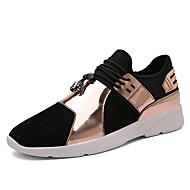 Men's Sneakers Spring Summer Fall Winter Comfort Microfibre PU Outdoor Office & Career Casual Athletic Split Joint Gore Black Gold Sliver