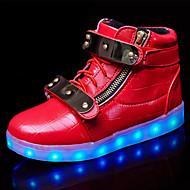 Kényelmes Újdonság-Lapos-Női cipő-Tornacipők-Szabadidős Alkalmi Sportos-PU-Fekete Piros Fehér