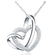 Women's Pendant Necklaces Heart Alloy Love Heart Elegant Silver Jewelry For Party Anniversary Birthday Thank You Daily Valentine 1pc