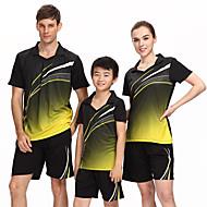 Ademend Comfortabel-Unisex-Badminton-Pakken/Kledingsets(Rood Zwart Blauw)
