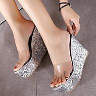 Sandály-Koženka-Jiné-Dámské-Zelená Růžová Bílá Stříbrná Zlatá-Outdoor-Klín