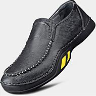 גברים-נעלי ספורט-עור-נוחות-שחור-יומיומי