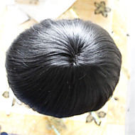 men toupee 6*8size 100% human virgin hair  color 1#