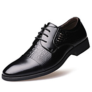 Men's Oxfords Spring Summer Fall Winter Comfort Leather Outdoor Office & Career Casual Party & Evening Flat Heel Rivet Black Yellow