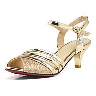 Sandály-SyntetikaDámské-Zlatá Černá Stříbrná-Kancelář Šaty Party-Nízký podpatek