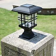 Painel solar lâmpada coluna coluna faróis lâmpadas de cerca lâmpada de parede farol luzes de jardim ao ar livre
