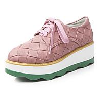Oxford-kengät-Creepers-Naisten-Tekonahka-Musta Vihreä Pinkki-Toimisto Puku Rento-Comfort