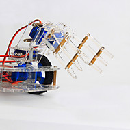 rák királyság 4 dof háromdimenziós forgó mechanikus kar 99 robot diy tanítás kit szerkezet