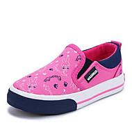 לבנות-נעליים ללא שרוכים-קנבס-נוחות-כחול ורוד-יומיומי