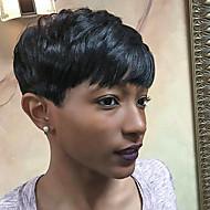 новые короткие стрижки монолитным парики человеческих волос для черных женщин весной 2017 года
