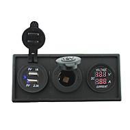 12v / 24v כוח יציאת USB charger3.1a ומד ampmeter הנוכחי עם פאנל בעל דיור עבור RV משאית סירה המכונית (עם מד מתח הנוכחי)
