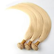 """3pcs / lot 12 """"-26"""" vierge décolorant capillaire cheveux blonds remy cheveux raides humaine russe"""