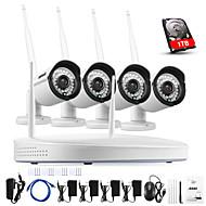 annke 4ch CCTV-System drahtlose 960p nvr 4pcs 1.3MP ir p2p wifi Kamera