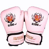 Boxhandschuhe Vollfinger Alles Atmungsaktiv tragbar Schützend Taktisch Boxen PU Weiß