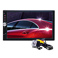 Autoradio 7 Inch 2 Din HD Touch Car MP5 MP3 MP4 Player Stereo Bluetooth FM Radio USB with Rear View Camera for Nissan Toyota Univeral