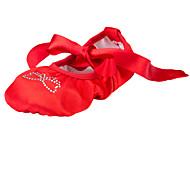 Na míru-Dámské-Taneční boty-Balet-Látka-Rovná podrážka-Červená