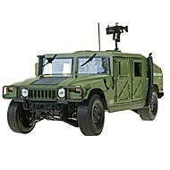 רכב צבאי צעצועים צעצועים רכב 1:18 פלסטיק מתכת ABS ירוק צעצוע בניה ודגם
