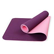 TPE Yoga Mats Eco Friendly Libre de Olores 6 mm Rosa Azul Verde Morado Negro Other
