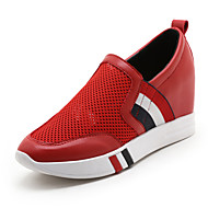 Sneakers-Tyl Kunstlæder-Komfort-Damer-Hvid Sort Rød-Kontor Formelt Fritid-Kilehæl