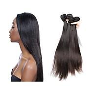 브라질 레미 헤어 레미 인모 붙임머리 가발 스트라이트/일자 레미 인간의 머리카락 되죠