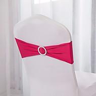 10pcs bandas cadeira spandex spandex cadeira bandas cadeira faixa stretch lycra com decoração de casamento fivela
