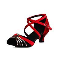 Feminino-Saltos-Sapatos clube Gladiador-Salto Agulha-Preto Azul Verde Cinza-Couro Ecológico Flanelado-Escritório & Trabalho Social Casual