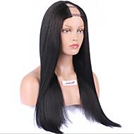 middle parte lateral perucas de cabelo brasileiro upart peruca reta u parte perucas de cabelo humano 8a Remy não transformados cabelo