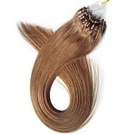 7α μη επεξεργασμένα μαλλιά παρθένο βρόχο ανθρώπινης τρίχας 16-24inch / 0,5 g / s μικρο μαλλιά επεκτάσεις δαχτυλίδι 40g-50g / lot 100%
