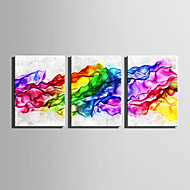 E-HOME Stretched Canvas Art Gorgeous Abstract Curve Decoration Painting Set Of 3