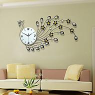 Moderne/Contemporain Bureau / Affaires Famille Ecole/Diplôme Amis Horloge murale,Nouveauté Cristal Métal 82*48 Intérieur Horloge