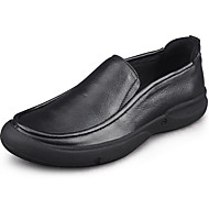 Sneakers-Læder-Komfort-Herre-Sort Nøgen-Fritid
