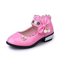 לבנות-סנדלים-עור-נוחות צעדים ראשונים נעלי ילדת הפרח-ורוד אדום ורוד בהיר-שטח יומיומי שמלה-עקב נמוך
