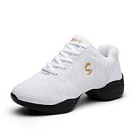 Na míru-Dámské-Taneční boty-Taneční tenisky-Látka-Kačenka-Černá Červená Bílá