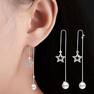 Viseće naušnice Kristal Kubični Zirconia Legura Pink Jewelry Za Vjenčanje Party Dnevno Kauzalni 1 par