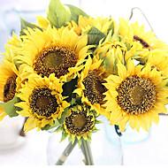 """פרחי חתונה עגול זרים חתונה חתונה/ אירוע סאטן סאטן אלסטי 4.72""""(לערך.12ס""""מ)"""